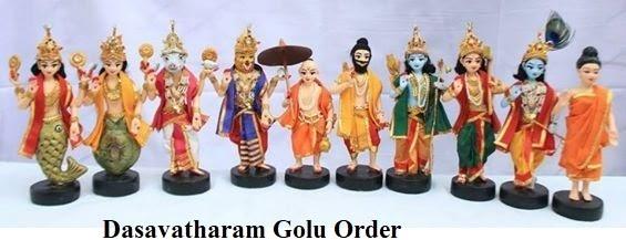 Dasavatharam-Golu-order