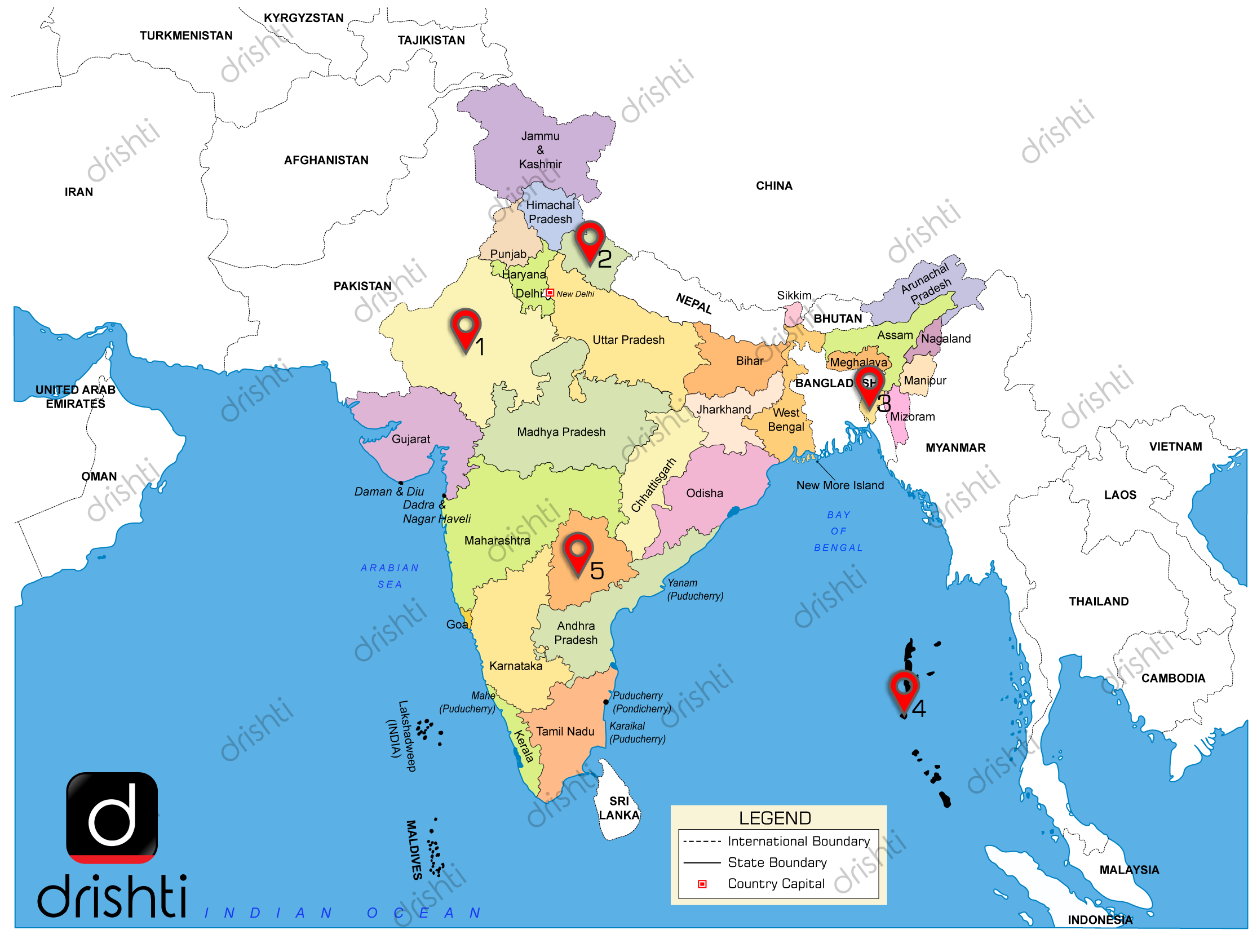 India Map : April (V) 2019 : Learning Through Maps