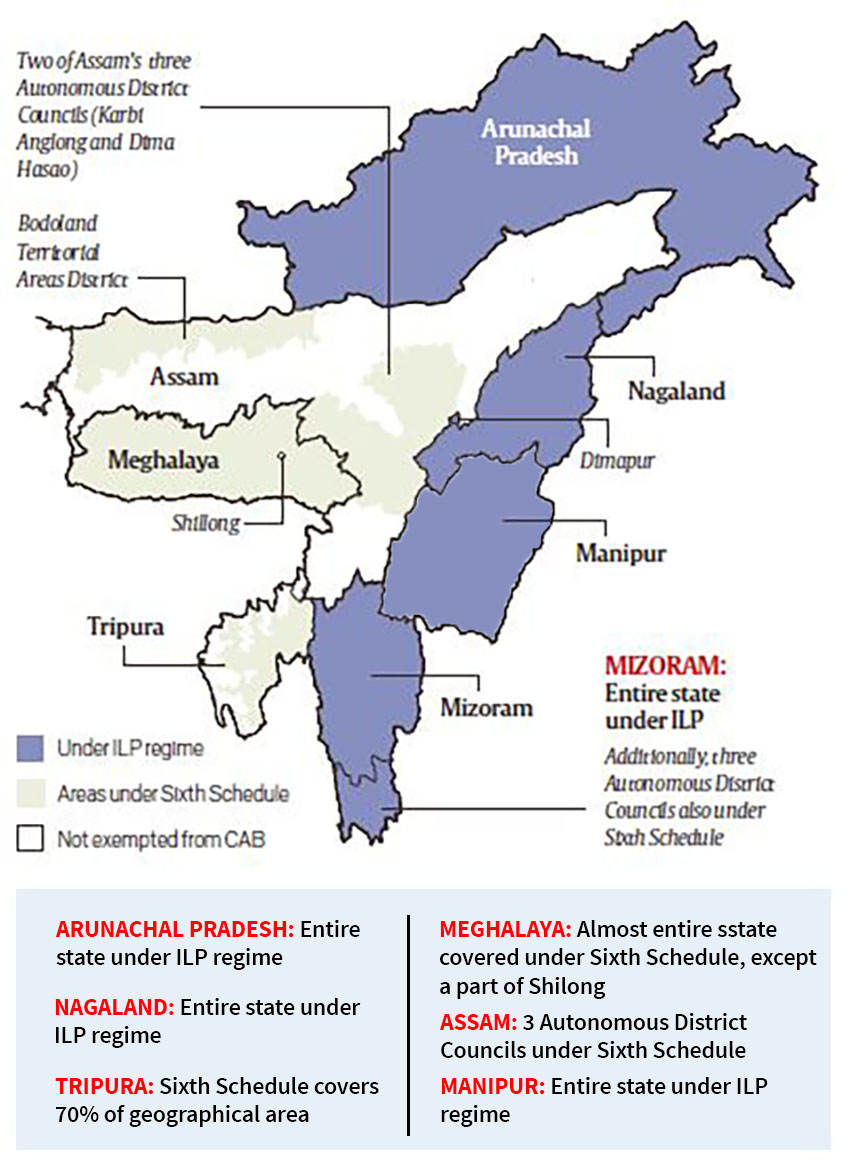 Image result for states in india with inner line permit