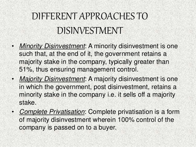 Meaning and objective of disinvestment executive summary for investment proposal template