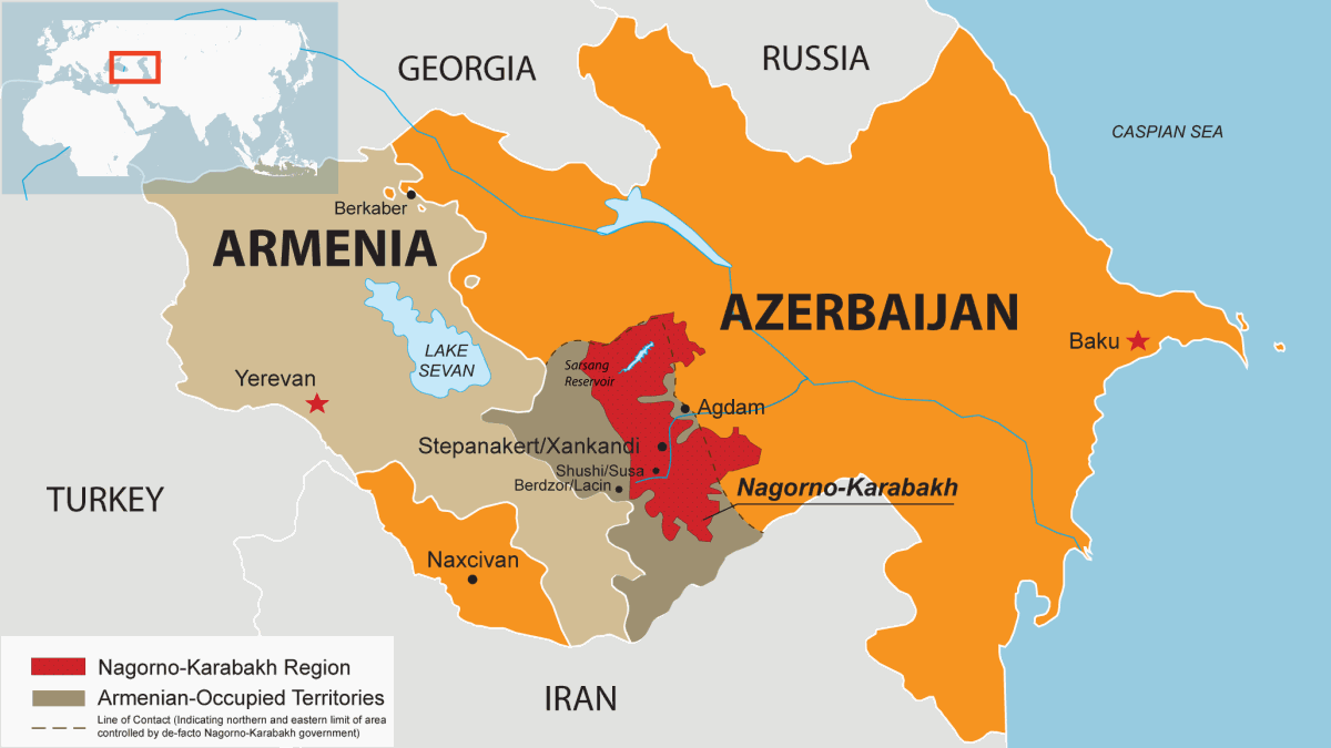 "Résultat de recherche d'images pour ""armenia azerbaijan war map"""